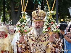 Metropolitan Onufry of Kiev and All Ukraine Enthroned at Kiev Monastery of the Caves