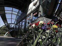 В Москве почтили память погибших 40 дней назад при аварии в метро