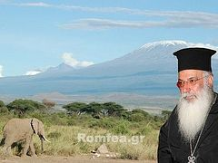 Metropolitan Makarios of Kenya visits church under construction at the foot of Kilimanjaro