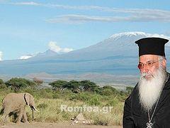 Metropolitan Makarios of Kenya visits church under construction at the foot of Kilimanjaro