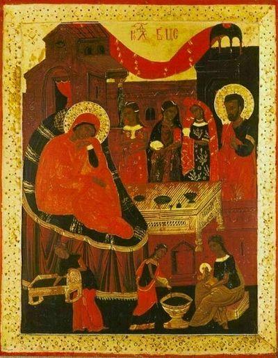 икона Рождества Богоматери из келии Маруда в честь Рождества Пресвятой Богородицы (1653-54гг.)