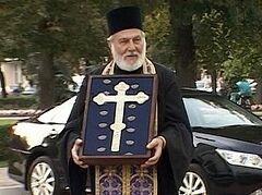 В Тамбов привезли старинный крест из Черногории