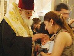 Крестниками Патриарха Грузии станут еще 621 младенцев