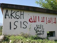 На зданиях сербского монастыря в Косово появились экстремистские надписи