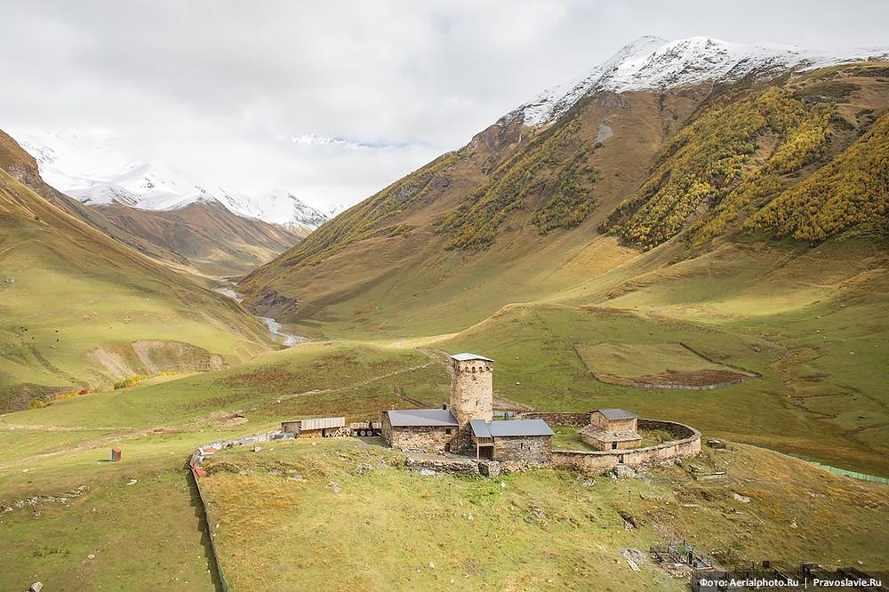 Церковь Ламария в селе Ушгули, Сванетия