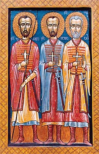 Holy Martyrs Bidzina, Shalva, and Elizbar (†1661)
