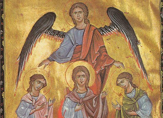 Архангел Михаил и три отрока в пещи вавилонской