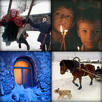 "Photo gallery ""Snow is flying all over Russia, like good tidings of great joy"""