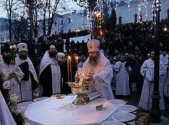 На Крещение в Святогорской лавре служили ночью — по Типикону