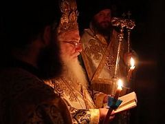 The feast of Theophany at Vatopedi Monastery, Holy Mount Athos – 2015