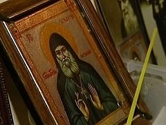 In Georgia miracles are occurring from the myrrh-streaming Icon of St. Gabriel (Urgebadze)