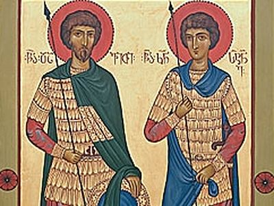 Great-martyrs Davit and Constantine (†740)
