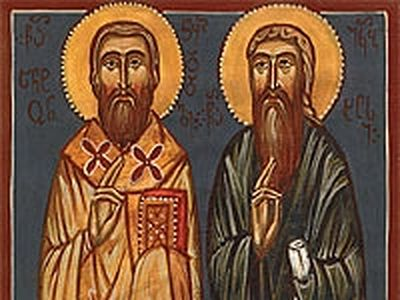 Holy Hierarch Anton of Chqondidi and His Disciple Hieromonk Iakob the Elder (18th–19th centuries)