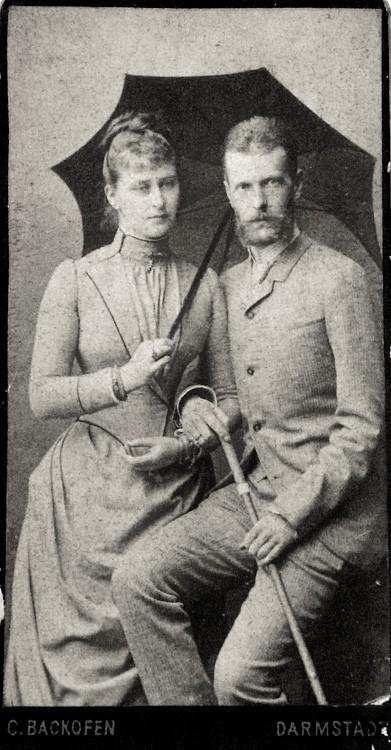 Великий князь Сергий Александрович и Великая княгиня Елизавета Феодоровна. 1884 г.