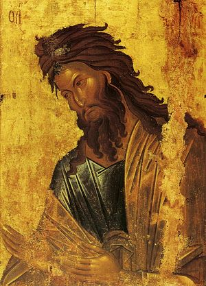 The holy Prophet, Forerunner, and Baptist of the Lord, John.
