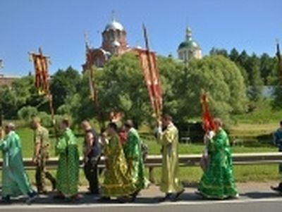 Cross procession in honor of the 700th anniversary of St. Sergius of Radonezh