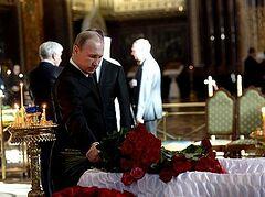 Президент России простился с Валентином Распутиным в храме Христа Спасителя