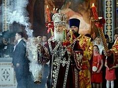 В праздник Светлого Христова Воскресения Предстоятель Русской Церкви возглавил богослужение в Храме Христа Спасителя