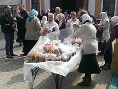 Пасхальные подарки от жителей Москвы доставлены в Донецкую епархию