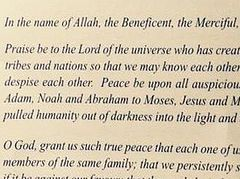 Westminster Abbey Acknowledges Mohammed In Succession Of Prophets