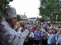 A memorial church on the site of the original one burned down by Nazis is consecrated in Belarus