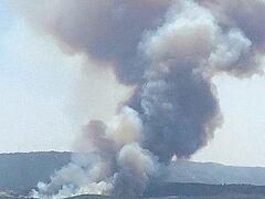 У границ Святой Горы Афон начался пожар