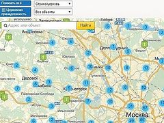 Updated map of churches and monasteries of the Russian Church is available online
