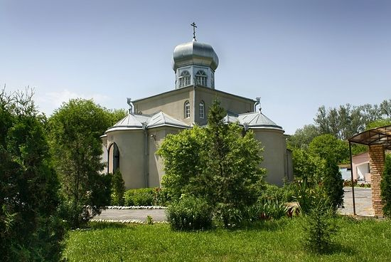 The Church of Nativity in Blagoveshenka Village. Located in the eastern part of Blagoveshenka settlement, 20 km west of Prokhladnyi and 46 km northeast of Nalchik.