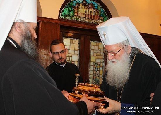 Мощи преподобного Серафима Саровского принесены в дар Болгарской Православной Церкви