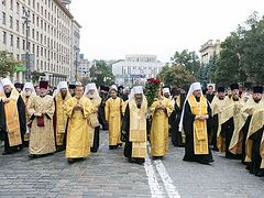 UOC (MP) Believers Held Religious Procession in Kyiv