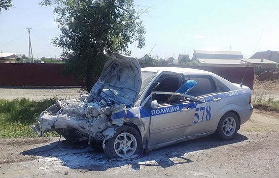 Машина Косолапова после столкновения