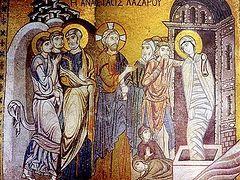 Воскрешение прав. Лазаря. Святоотеческие толкования трудных мест