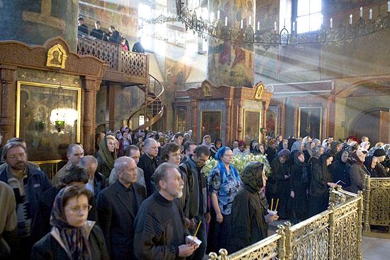 Служба на Страстной седмице в Сретенском монастыре