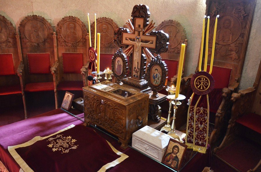 Ковчег с десницей св.Саввы