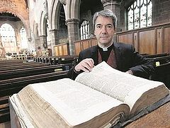 Vicar Discovers Forgotten First Edition of King James Bible From 1611 As He Is Clearing a Cupboard At His Church