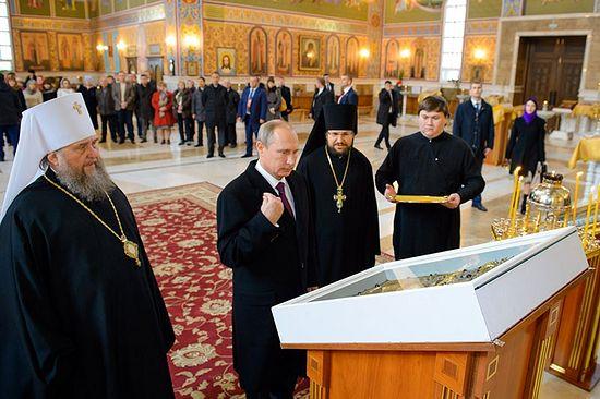 Владимир Путин поклонио икону Покрова Пресвете Богородице храму у Астани у Казахстану