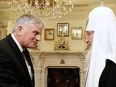 Franklin Graham Meets with His Holiness Patriarch Kirill and His Eminence Metropolitan Hilarion of Volokolamsk