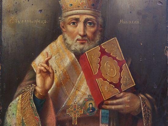 Икона свт. Николая Чудотворца, 1830-е гг.