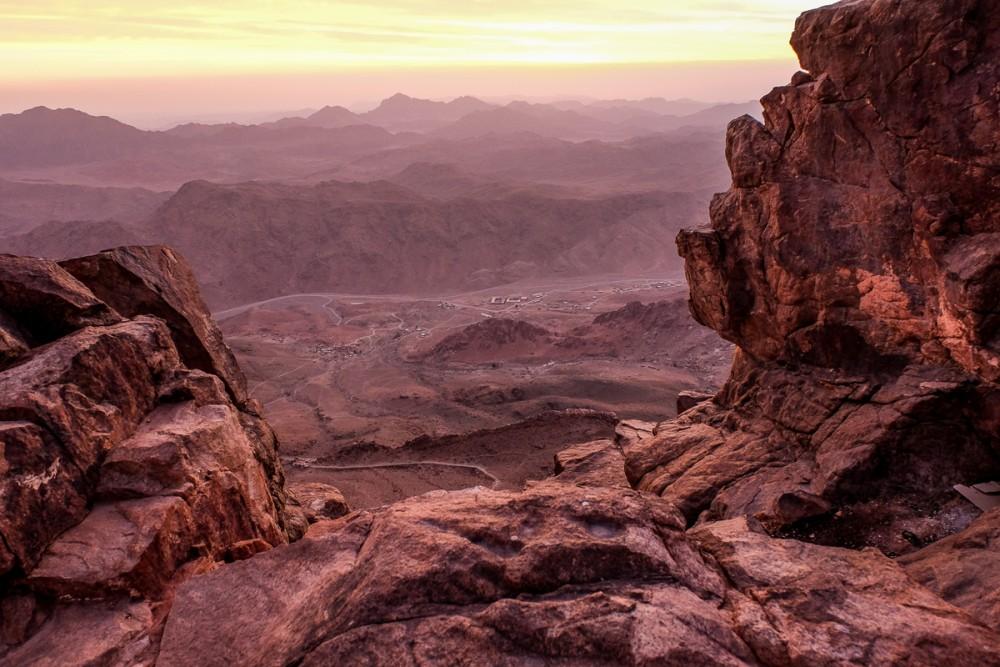 Вид на долины под Синаем