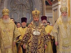 25th anniversary of His Beatitude Metropolitan Onufry's episcopal ministry is celebrated in the Ukrainian Orthodox Church