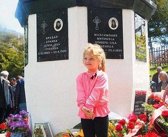 У памятника невинным жертвам бомбардировки НАТО в Мурино. Черногория