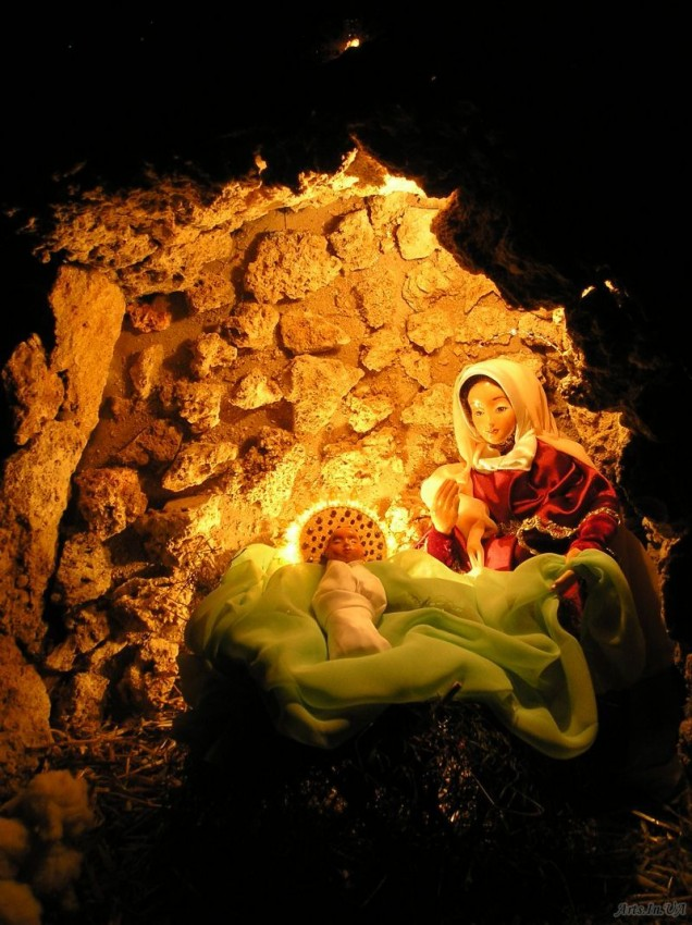 These are the kind of manger scenes you'll find in Ukraine.