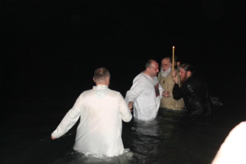 Батуми. Владыка Димитрий окунается в освященные воды