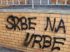 Swastikas graffitied onto Serbian Orthodox Church in racist vandalism attack
