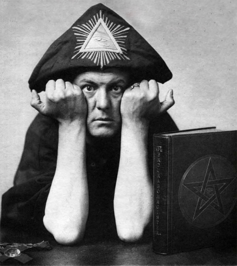 Aleister Crowley, head of the Ordo Templi Orientis (OTO) and the most well-known Satanist of the twentieth century. Crowley was also a British intelligence asset.