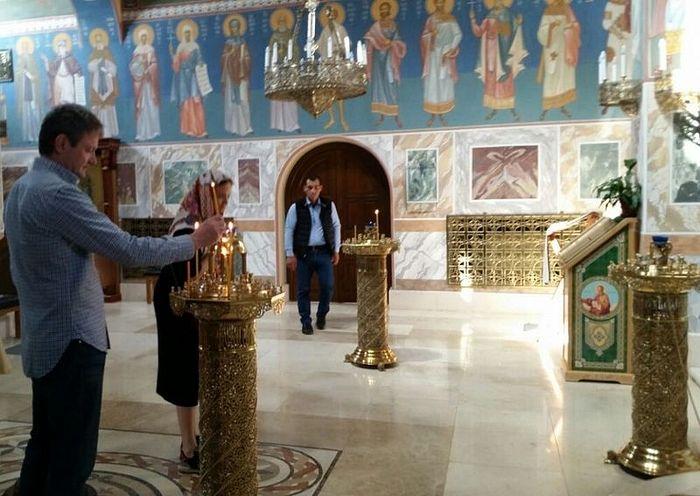 В храме-часовне св. Иоанна Предтечи