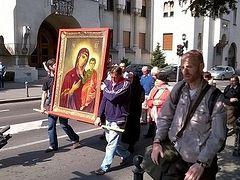 Pro-life cross procession in Belgrade