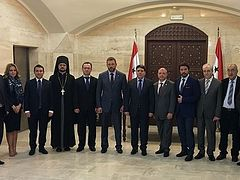 Church-state delegation visits Syria