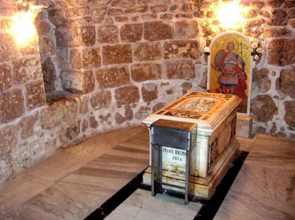 The relics of Great Martyr George in the church in Lydda