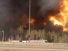 Orthodox hierarchs offer prayers and encouragment in midst of Alberta wildfires